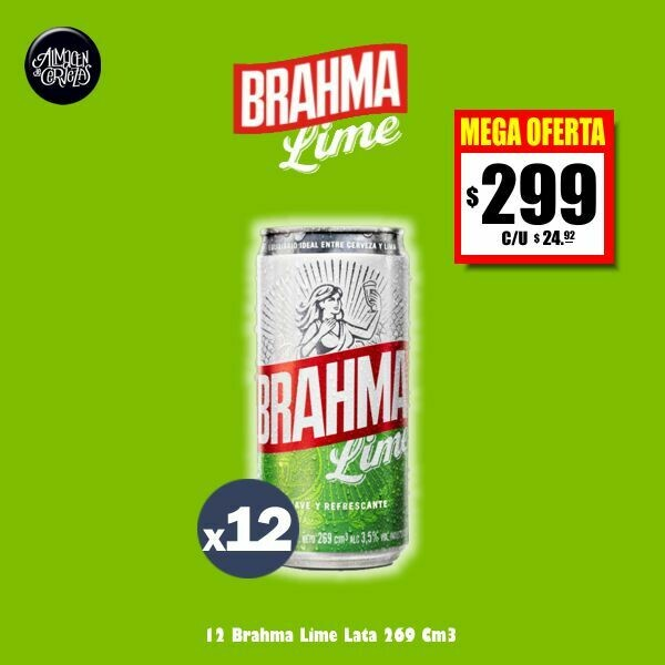 MEGA OFERTA - Brahma Lime Lata 269Cm3 x12