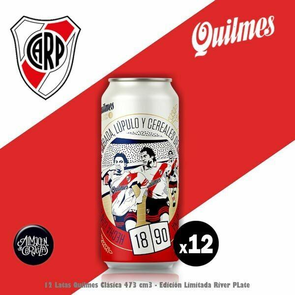 12 Lata Quilmes Clásica RIVER 473Cm3