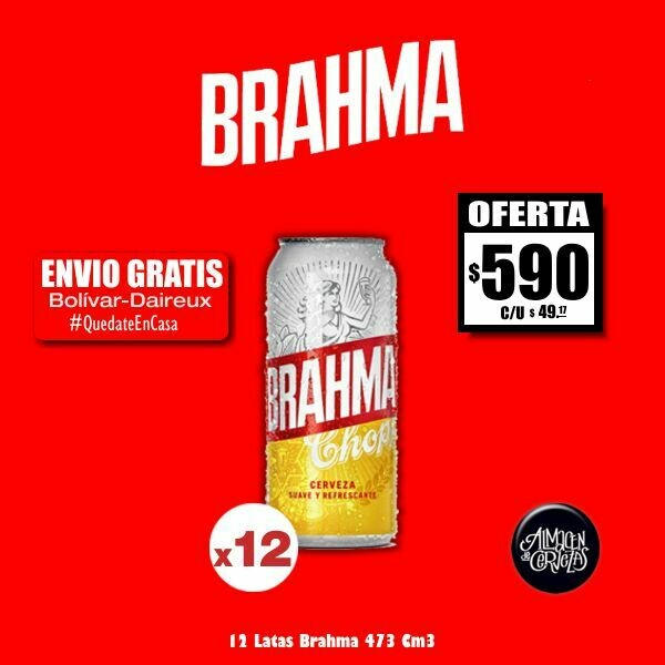 OFERTA - 12 Latas Brahma 473Cm3