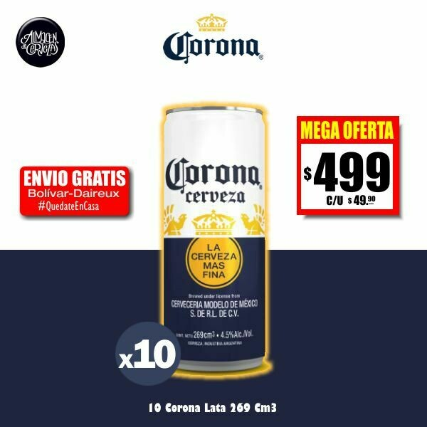MEGA OFERTA - CORONA Lata 269 Cm3 x10