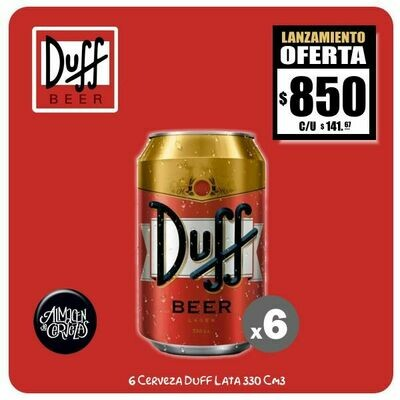 LANZAMIENTO - 6 Latas Duff 330Cm3