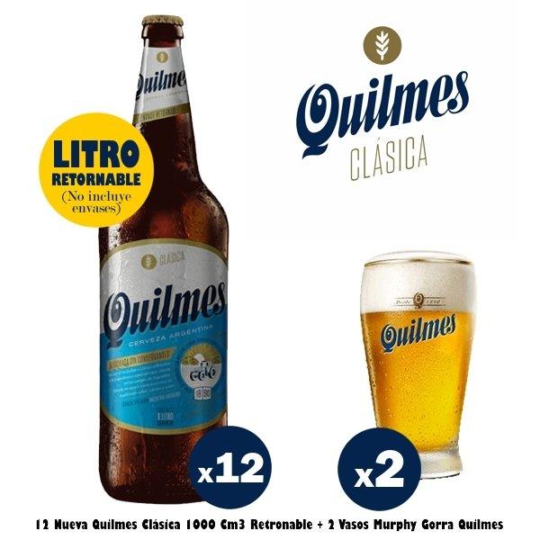 Quilmes Clásica + Vasos Murphy