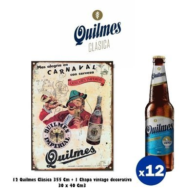 Chapa Quilmes Carnaval