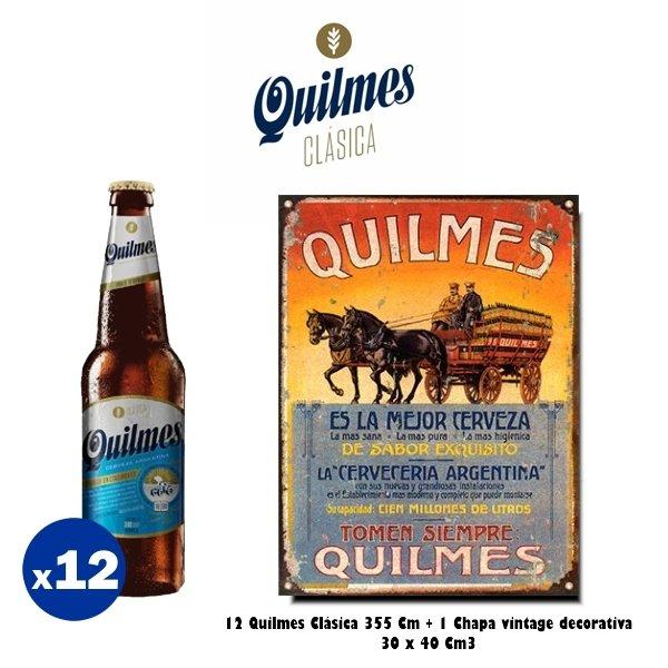 Chapa Quilmes Carreta