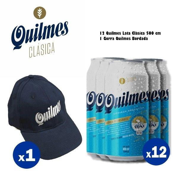 Gorra + Lata Clásica Quilmes