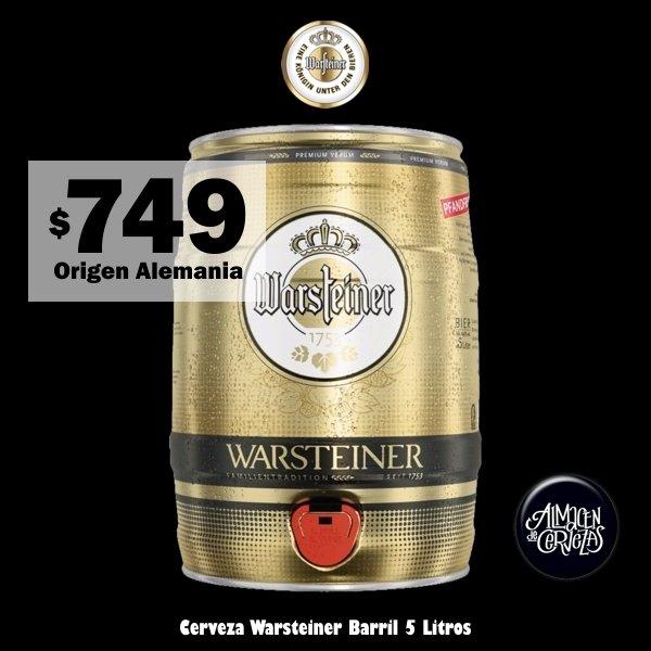 Barril Warsteiner 5 Litros