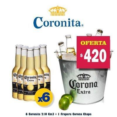 6 Coronitas + Frapera