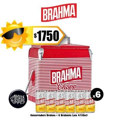 Verano - Conservadora Brahma + 6 Brahmitas