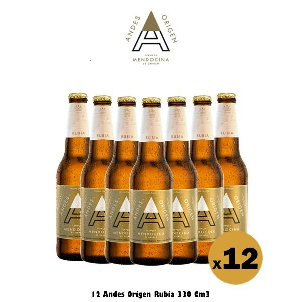 Andes Origen Rubia 330 Cm3 x12