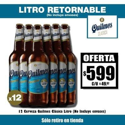 OFERTA Quilmes LITRO x12