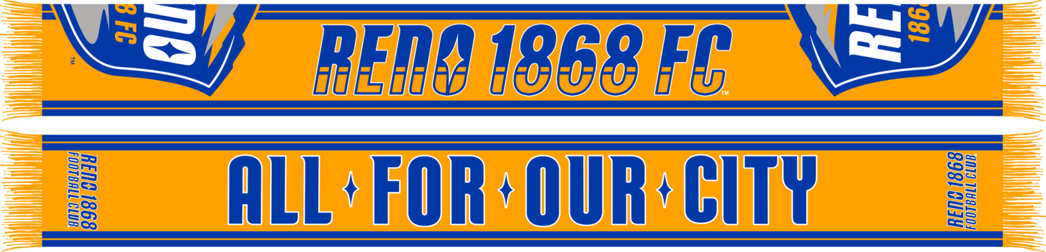 Reno 1868 FC All For Our City Scarf