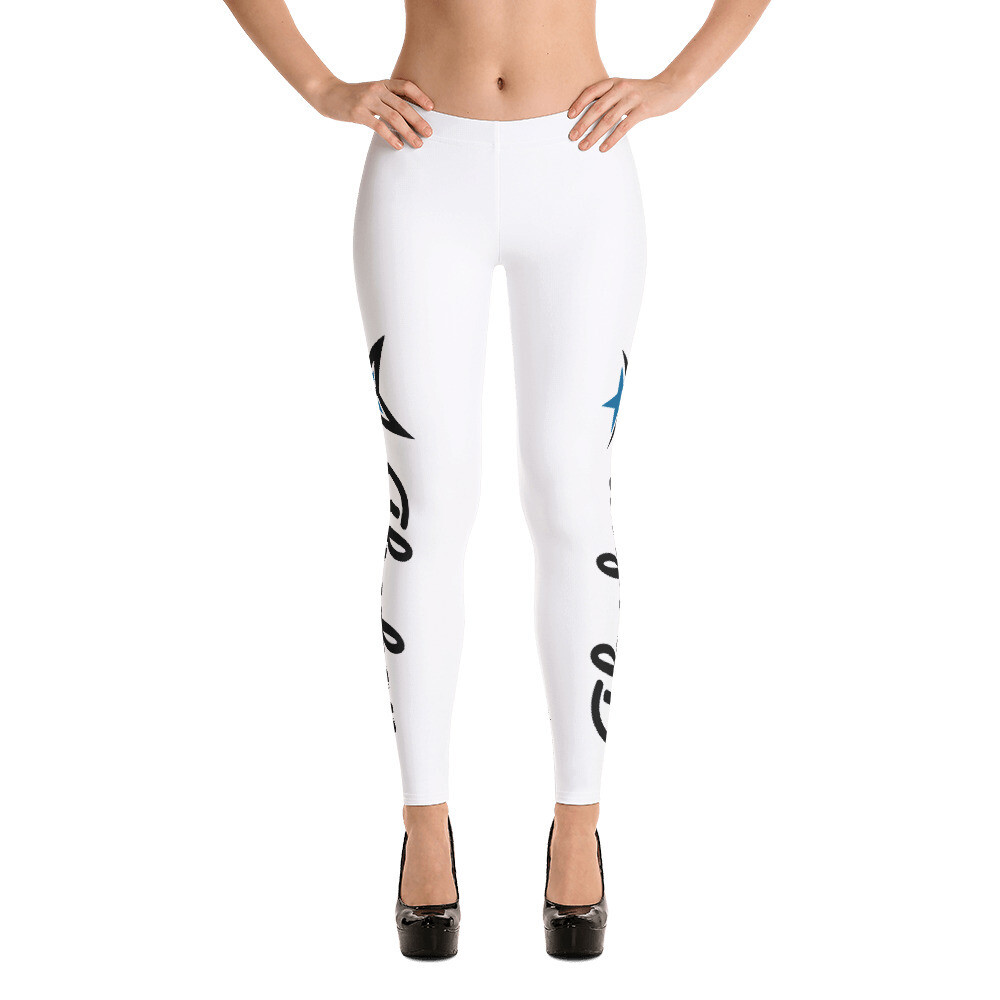 AKSTAR Signature WHITE FITNESS LEGGINGS