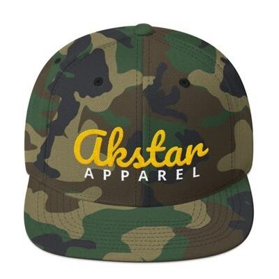 AkStar Signature Camo Gold Snapback