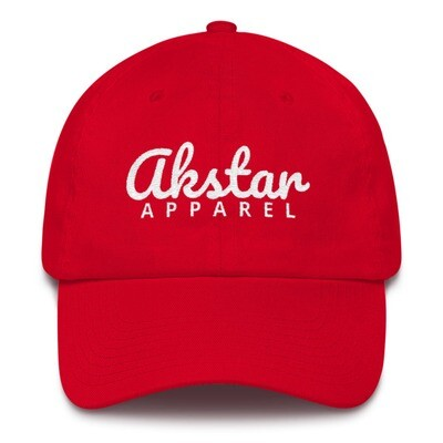 AkStar Signature Ladies Red Cotton Cap