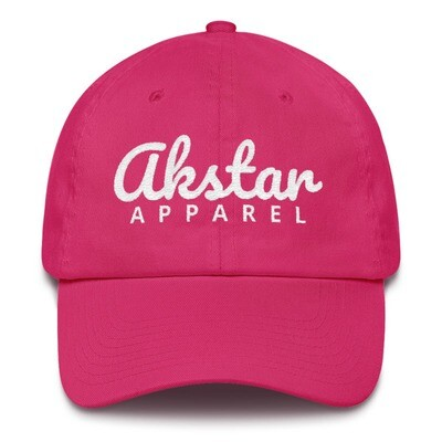AkStar Signature Ladies Pink Cotton Cap
