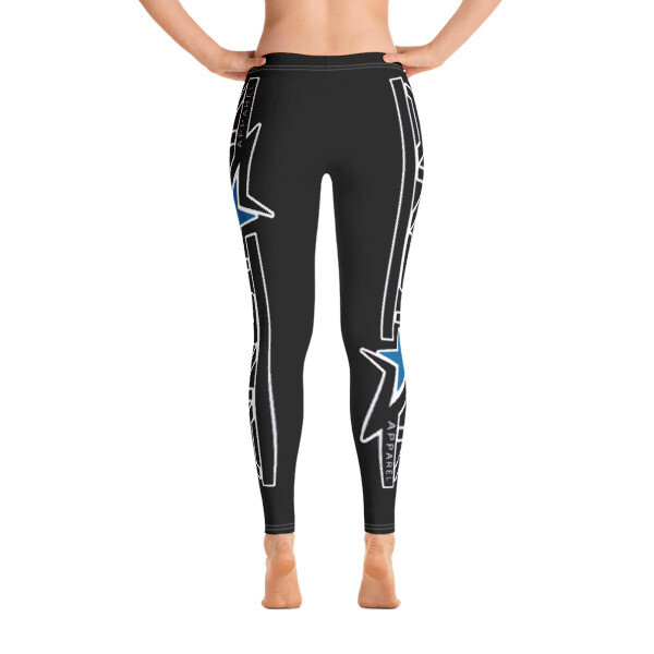 AkStar Logo Black Fitness Leggings
