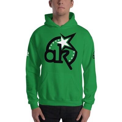 42 AKSA Logo Grn Hooded Sweatshirt