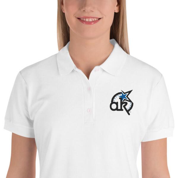 AKSA Women's White Polo Shirt