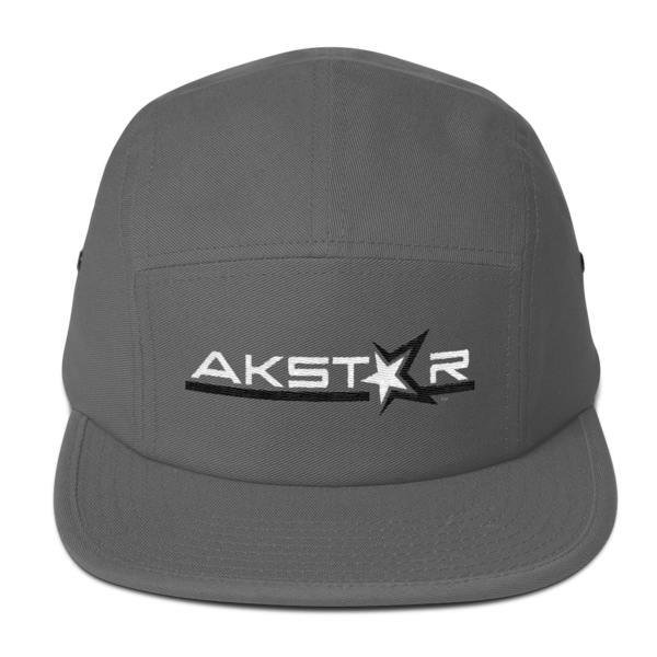 AKSA Grey Five Panel Cap