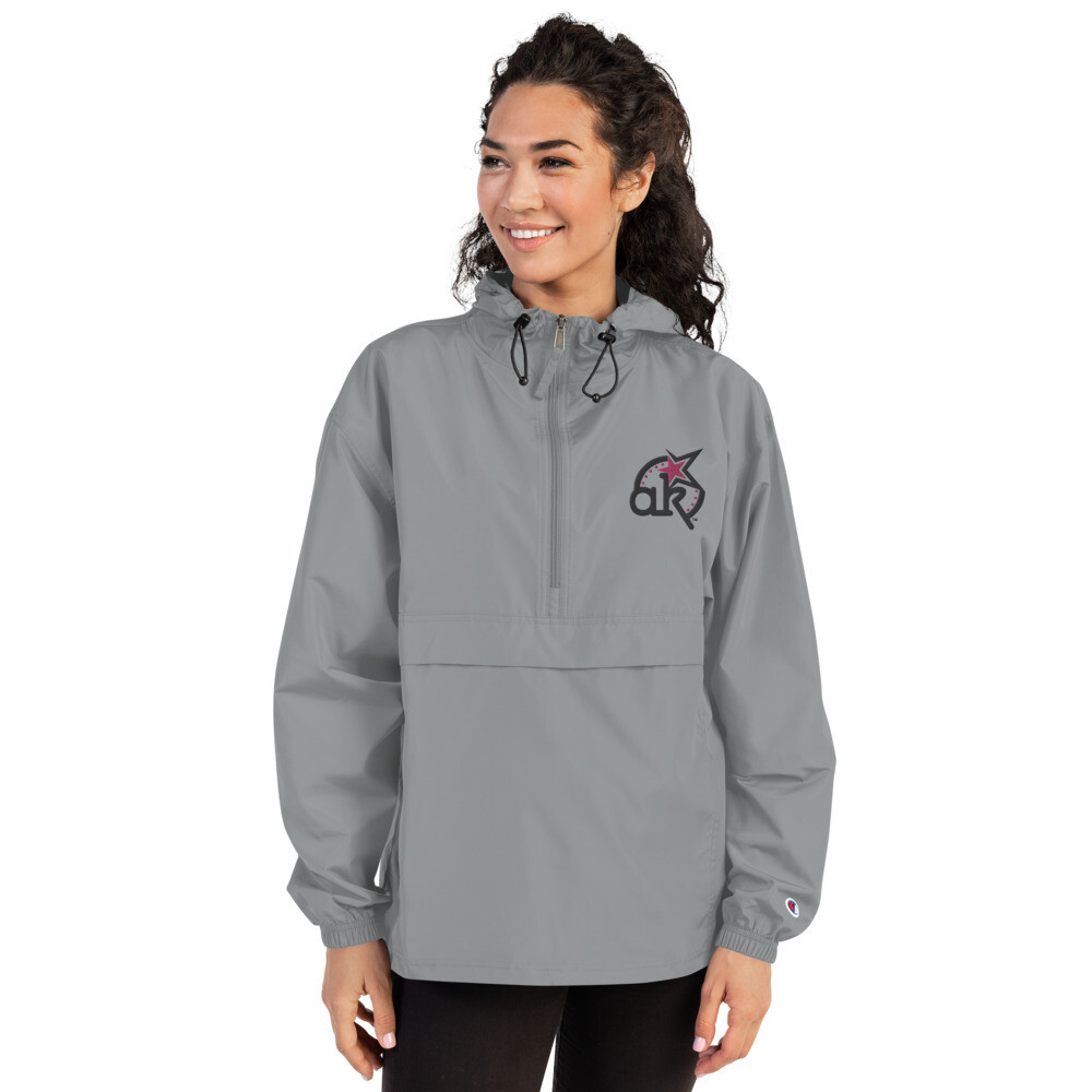 Wms AKStar Champion Packable Grey  Jacket