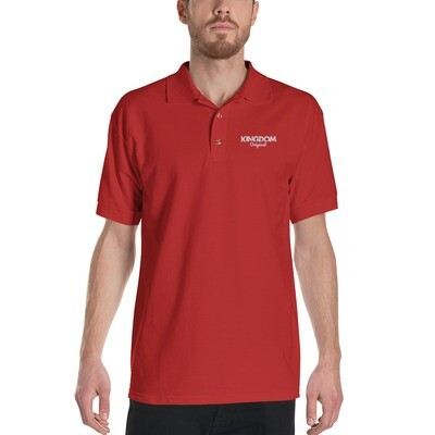 Kingdom Orig. Red Embroidered Polo Shirt