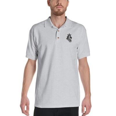 KO King Lion Gry Embroidered Polo Shirt