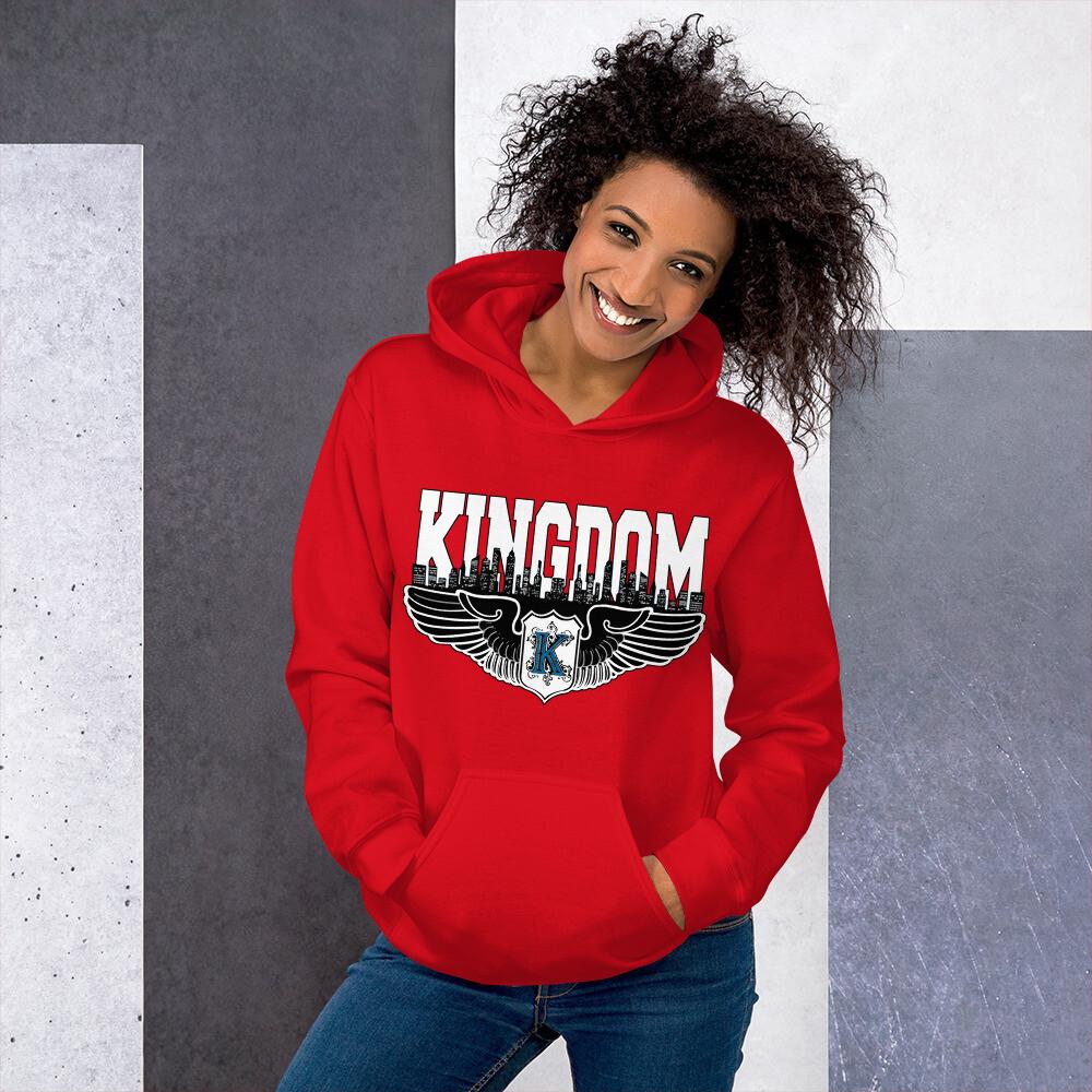 Kingdom Logo Hoodie Red L