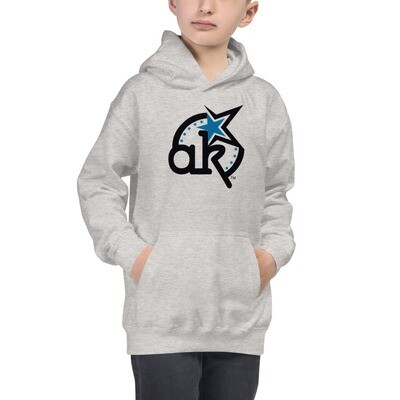 AKSTAR Logo Kids Hoodie Grey