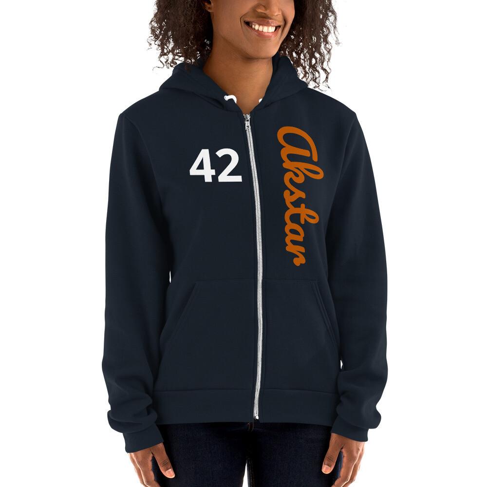 ASKA 42 Hoodie Zip Navy/Orange