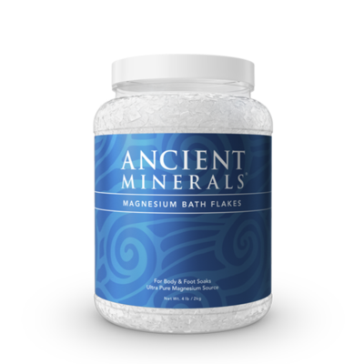 Ancient Minerals Magnesium Bath Flakes- 4.4 lbs / 2kg