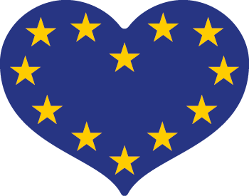 EU flag Stickers (90) (UK postage included)