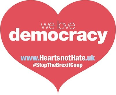 Placard - Hearts not Hate