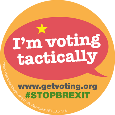 Stickers - Voting Tactically (100) (UK postage included)
