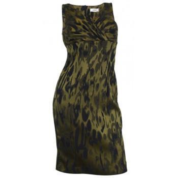 Glänzendes Khaki Kleid