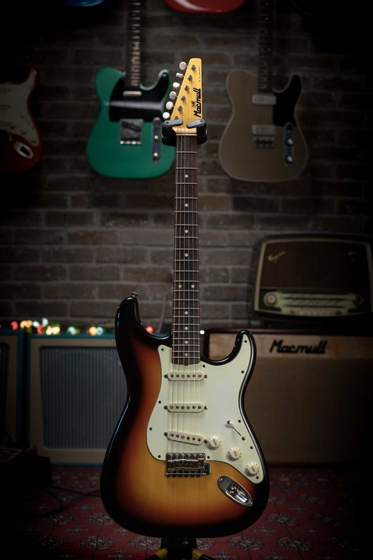 SOLD - Macmull S-Classic, 3 Tone Sunburst