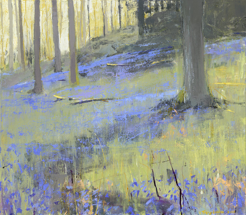 Bluebells at Brathay Reproduction print