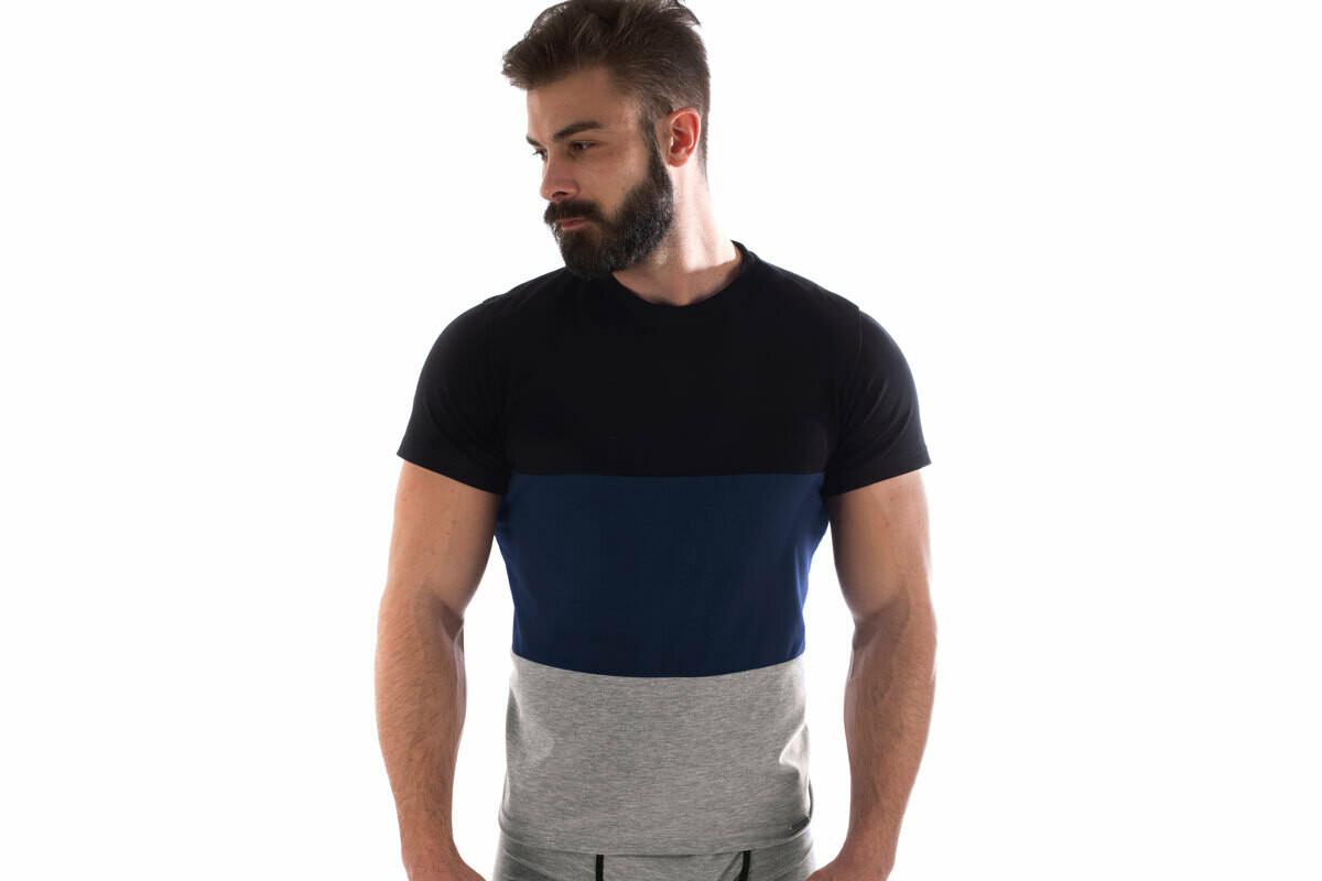 Manor Basic Crno-Teget-Siva Majica