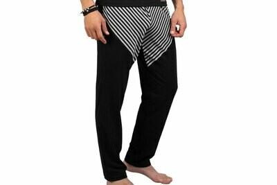 Manor Stripes Crno-Dvobojna Pidžama (donji deo)