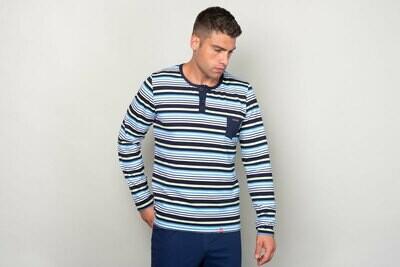 Manor Stripes Četvorobojna Majica (dug rukav)