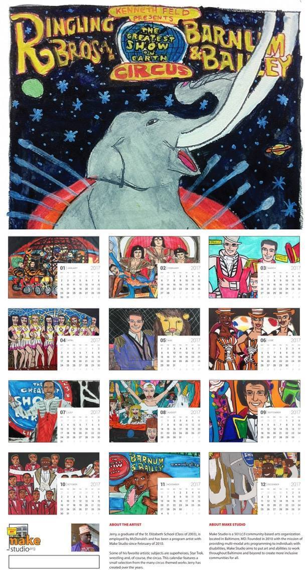 Ringling Bros. Commemorative 2017 Wall Calendar