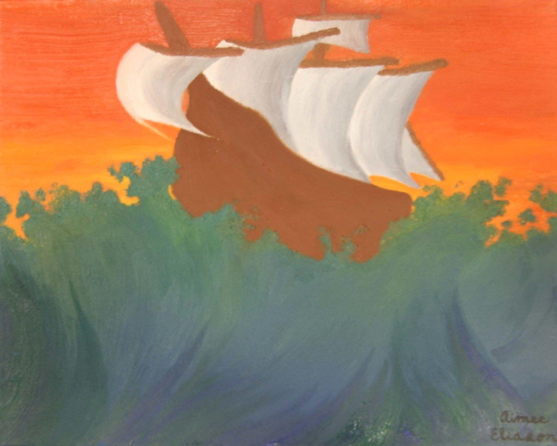 Ship Upon A Restless Sea