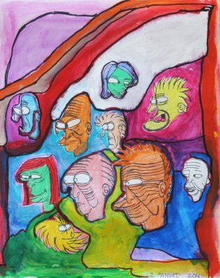 Abstract Faces with Color
