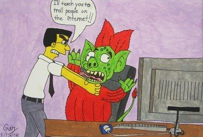 Frank Grimes Strangles an Internet Troll