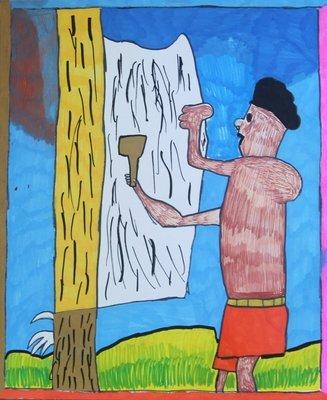 Man Making Paper