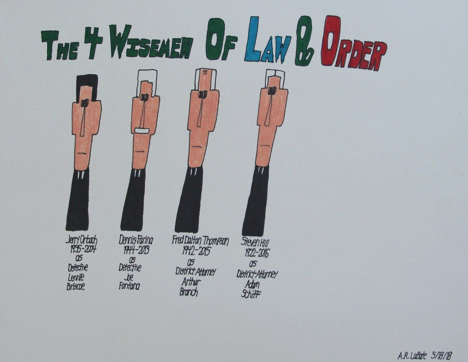 The Four Wisemen of Law and Order