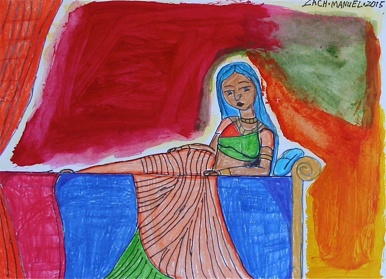 Indian Girl Reclining