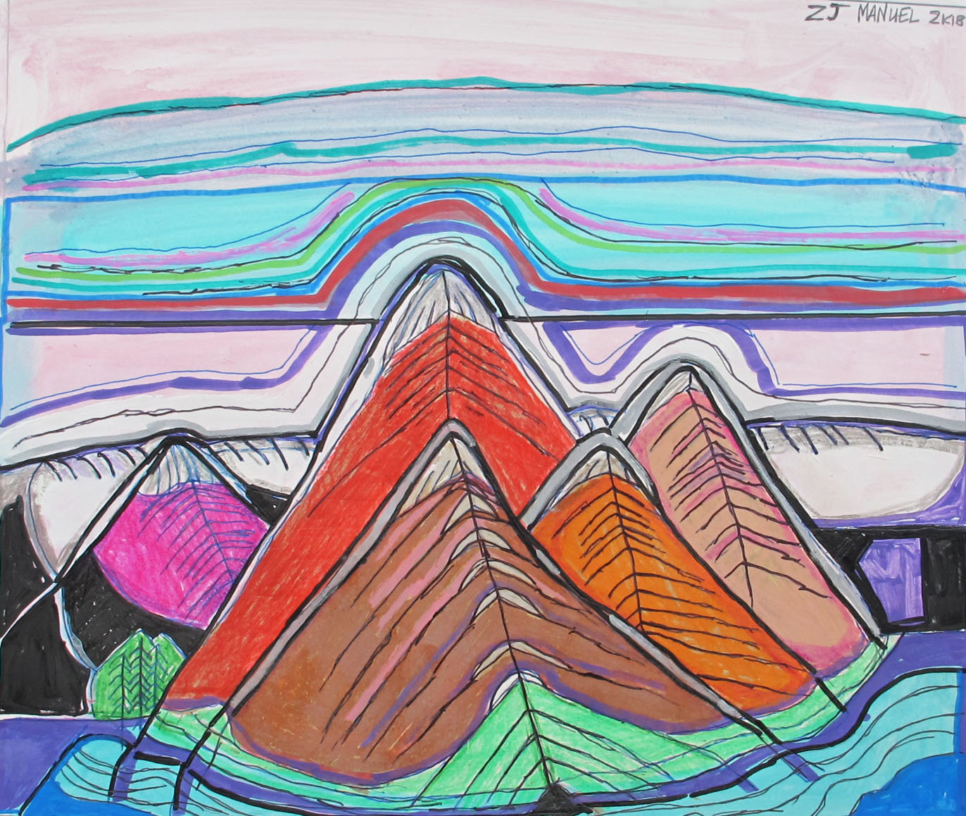 Multi-Color Mountains