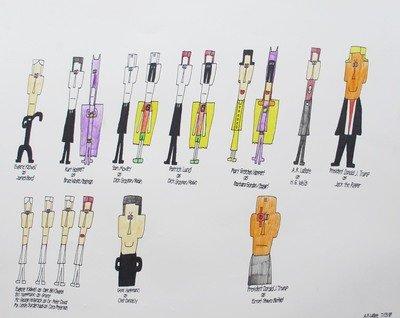 James Bond, Batman, Robin, Batgirl and Other Heroes and Villains