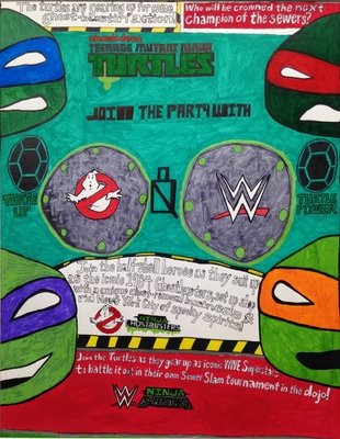 Teenage Mutant Ninja Turtles Join the Party with Ghostbusters and WWE
