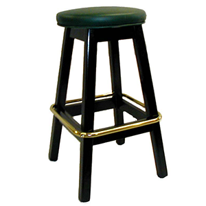 Commercial Hardwood Backless Barstools